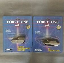 Ertl  Force One M1 Abrams Tank and M109A2 self propelled howitzer 1989 Lot of 2