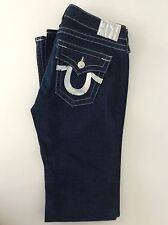 "True Religion Ladies Jeans, W29"", L33"" Denim Blue Sequin Detail, Vgc"