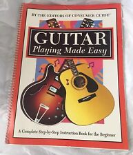 Guitar Playing Made Easy By Consumer Guide Spiral Bound Book Music