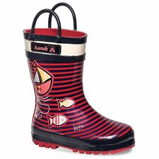 Kamik RainBoots Pink 100% Waterproof Little Girls  Size 9