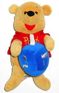"""Disney 8"""" Winnie The Pooh Hanukkah (Chanukah) Bean Bag Plush with Dreidel"""