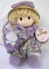 """Little Miss Muffins 9"""" Plush Doll with Easter Basket & Bunny Lilac Daisy Dress"""