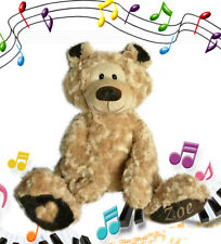 BANJO DELUXE - the Personalised Singing Teddy Bear with Embossed Paw -  $69.95