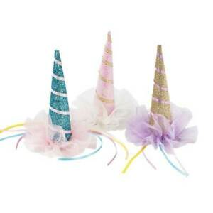 NEW We Heart Unicorn Clip On Hat Partyware Gifts School