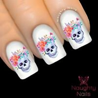 ODETTE Sugar Skull Nail Water Transfer Decal Sticker Art Tattoo Day Dead
