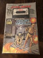 STAR WARS Droid World READ ALONG BOOK & CASSETTE NEW OLD STOCK 1983 R2D2 C3PO