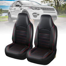 WILLKEY UNIVERSAL BLACK HEAVY DUTY LEATHER CAR SEAT COVERS SET CUSHIONS PROTECT