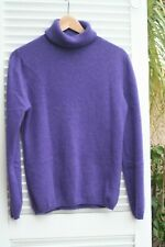 PULL CACHEMIRE COL ROULE ABSOLUT CASHMERE VIOLET  38/40