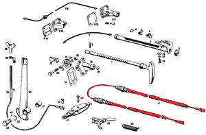 Mercedes Benz 190 Sl Handbrake Cable Rear