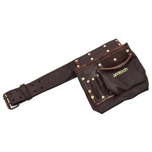 Oil Tanned Tool Belt Holder Heavy Duty Multi-Pocket Tool & Nail Pouch  6 Pocket