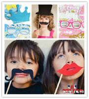 Photo Booth Props Mask Mustache Boy Wedding Funny Party Birthday Decor DIY UK