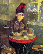 Oil painting Vincent Van Gogh Agostina Segatori Sitting in the Cafe du Tamourin