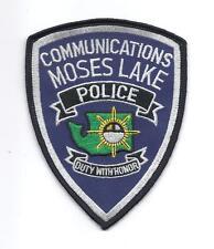 **MOSES LAKE WASHINGTON POLICE COMMUNICATIONS POLICE PATCH**