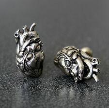 Silver Anatomical Human Heart Cuff links Cufflinks Zombie Anatomy Cardiac 165