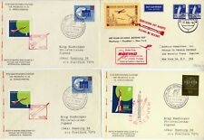 lot of 13 items mainly rocket mail - posta razzo - Deutsche raketen 1959 - 1960