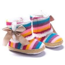 Multi-color Baby Girl Rainbow Soft Snow Boots Crib Cotton Material Shoes New