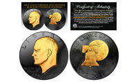 1976 BLACK RUTHENIUM Bicentennial Eisenhower Dollar w/ 24K GOLD features 2-Sided
