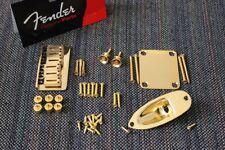 New Fender American Standard Hardtail Gold Stratocaster Body Hardware Set
