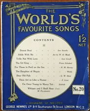 The World's Favourite Songs No. 20. Dream Boat, Abide With Me, The Erl King Etc.