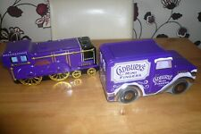 Pair of Cadburys Fingers & Minis Tins Biscuits collectables vans Advertising