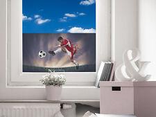 Sichtschutz Fensterfolie Sichtschutzfolie farbig für Kinderzimmer Fußballer Bal