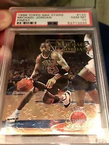 1996 Topps NBA STARS Michael Jordan FINEST #124 PSA 10 Gem POPULATION 31!!