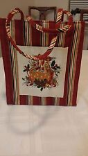 Longaberger Christmas tote bag, striped with beautiful basket design