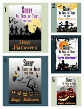 Halloween no trick or treating laminated poster