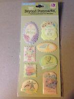 K /& Company~BEYOND POSTMARKS Letterpress Pop ups embellishment set~Really nice!