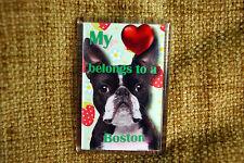 Boston Terrier Gift Fridge Magnet 77x51mm Free UK Post Birthday Gift