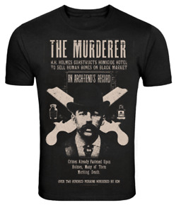 Se7en Deadly H.H Holmes Murderer Serial Killer Death Goth Punk t Shirt 1043-T