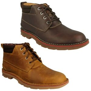 MENS CLARKS VARICK HEAL LACE UP SMART CASUAL CHUKKA WARM WINTER ANKLE BOOTS SIZE