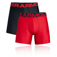 Under Armour Mens Tech 15cm Boxerjock Red Sports Gym Running Breathable