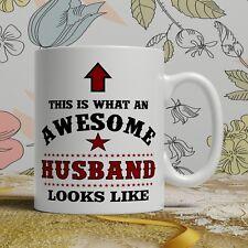 Awesome husband birthday gift mug for him wedding gift funny novelty anniversary