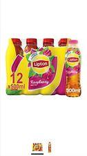 Lipton Raspberry Ice Tea Low in Calories. 12x500ml. Free Next Day Delivery