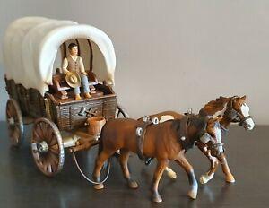 Schleich Wild West Covered Wagon Set - RARE