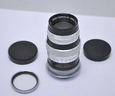 Canon 100mm f/3.5 Black/Chrome  Leica Screw Mount Lens w/ Caps & Walz 1A Filter