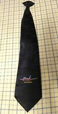 "Southwest Airlines WolfMark #98085 Blue Embroidered Plane Clip On Tie 20"" x 4"""