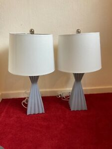 Crestview Collection Pair of Lamps Blue Modern Good Working Order AP1912UK3