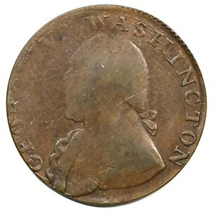 (1795) Baker-34 Plain Edge North Wales Half Penny Colonial Copper Coin