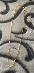 18k Gold Plate Necklace/chain