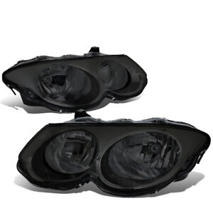 For 1999-2004 Chrysler 300M Pair OE Style Smoked Housing Headlight Headlamp Set