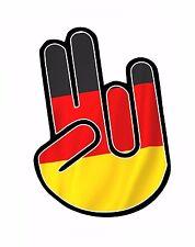 L'horreur main avec allemand allemagne pays drapeau vinyle autocollant voiture décalque
