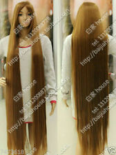 New Wig 150cm 60 incn Light Brown Long Straight Hair Christmas Costume Party Wig