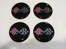 Chevy checkered flag wheel center cap hub cap center decal 43mm set of 4