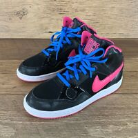 NEW NIKE SON OF FORCE MID PS 616372-012 BLACK / PINK YOUTH SIZE 2Y US SELLER