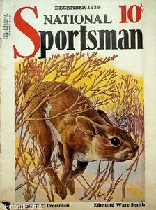 Vintage National Sportsman Magazine December 1934 Hunting Fishing Camping Hare