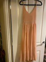 Boohoo Peach Skater Dress 16