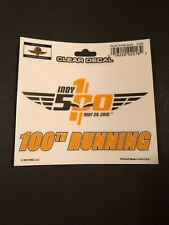 INDY 500 - 100th Running Decal - New