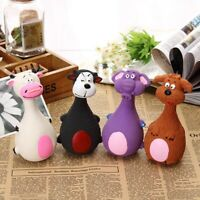 Unstuffed Plush Dog Puppy Pets Squeaker Toys Squeaky Funny Sound Play Chew Toys